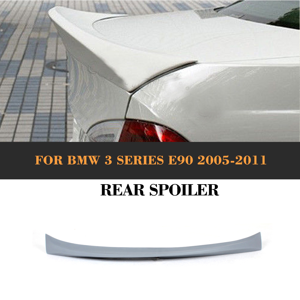 3 Series PU Rear Spoiler Wing For BMW E90 2005 - 2012 Auto Racing Car Styling Tail Trunk Boot Lip Spoiler Wing Car Cover e60 carbon fiber rear trunk boot wing lip spoiler for bmw 5series m5 style 05 11