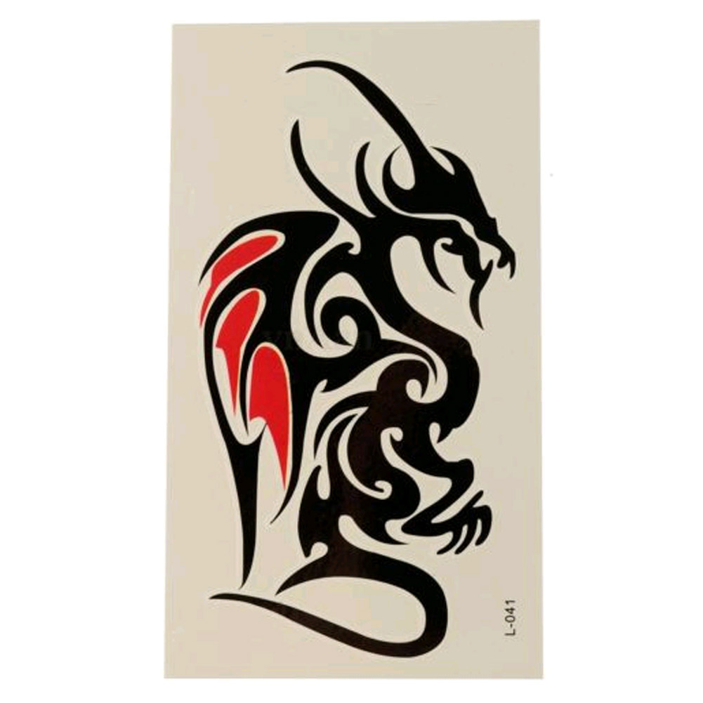 Waterproof Temporary Tattoo Sticker Of Body 10.5*6cm Cool Man Dragon Tattoo Totem Water Transfer High Quality 3