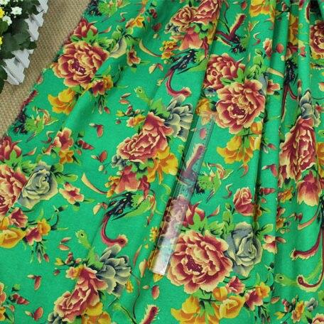 Weiche Leinen Baumwollstoff Chinesischen Blumen Bedruckte Stoffe für ...