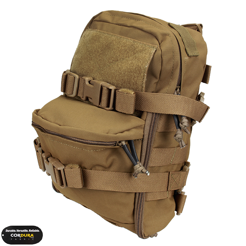 TMC Mini Hydration Bag Carrier Molle Backpack Paintball Airsoft Combat Gear Multicam Coyote Brown