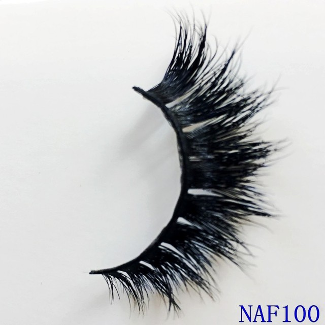 UPS Free Shipping 100pair Eyelashes 3D Mink Eyelashes Crossing Mink Lashes Hand Made Full Strip Eye Lashes natural False Lashes