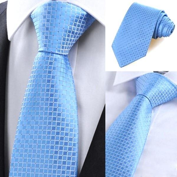 Chic Hot Classic Checks Jacquard Seda tejida Hombres Corbata Corbata - Accesorios para la ropa - foto 2