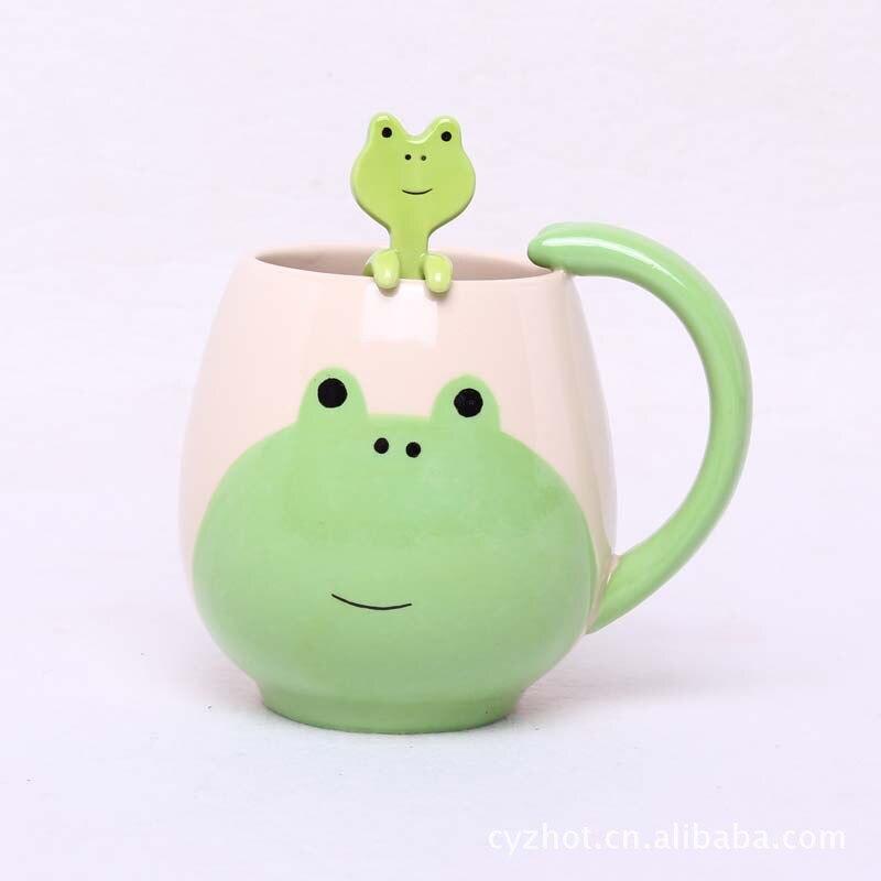 new creative gifts zakka <font><b>cartoon</b></font> <font><b>cute</b></font> <font><b>animals</b></font> cat <font><b>ceramic</b></font> milk tea <font><b>cup</b></font> with spoon coffee nespresso mug caneca porcelain moomin