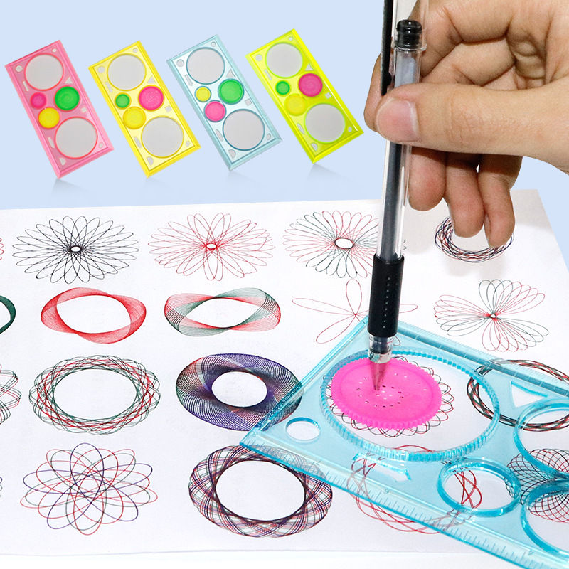Learning & Education Baby Drawing Toys Set Children Multi-function Painting Puzzle Spirograph Geometric Ruler Drafting Tool Learning Art Tool For Kid Online Discount Drawing Toys