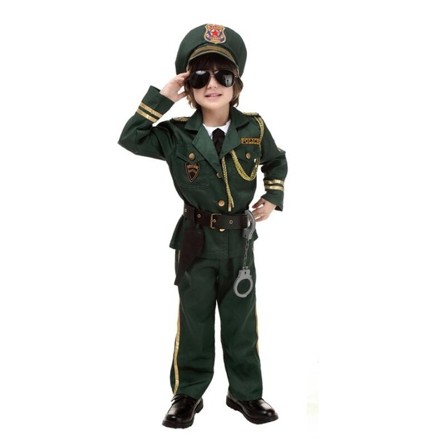Halloween Party New Arrival Super Policeman Cosplay Costume For Kids Cute Children Costumes Boy Army Green  sc 1 st  AliExpress.com & Halloween Party New Arrival Super Policeman Cosplay Costume For Kids ...