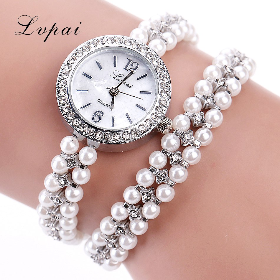 Lvpai Brand Women Dress Fashion Watches Classic Quartz Gold Watch Alloy Pearl Luxury Ladies Gemstone Bracelet Wrist Clock watch fashion casual rose gold sport watch women quartz watch lvpai brand luxury bracelet watches alloy dress ladies female wristwatch