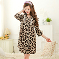 Free shipping women tencel lace leopard sexy nightdressSleepwear nightgown 2016 spring summer A664
