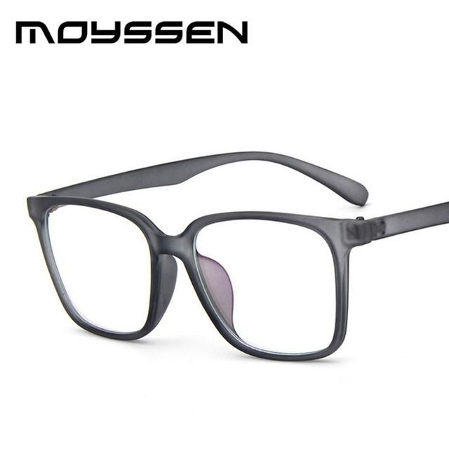 29ff69a8914 Moyssen Men s Super Large Oversized Square Frame Geek Eyeglasses Women Nerd  Decorative Myopia Glasses Prescription Eyewear
