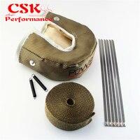 T3 Turbo Heat Shield Blanket Cover Wrap + 10m Manifold Heat Tape w/Steel zip Tie