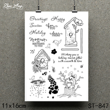 ZhuoAng Animal Chalet Design Clear Stamp / Scrapbook Rubber Craft Card Seamless