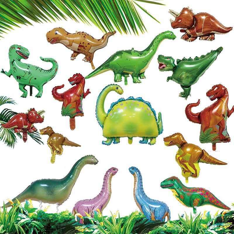 Party zielony dinozaur foliowy balon dekoracja urodzinowa zabawka dla dzieci nadmuchiwany balon helowy animal zoo theme udekoruj piłkę