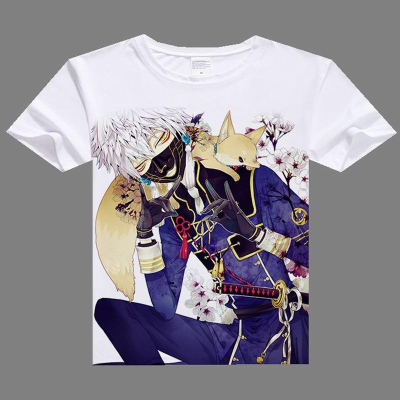 2017 newest cartoon anime printing casual t shirt for men Touken Ranbu Online T shirts Imanotsurugi shirts fashion t-shirt