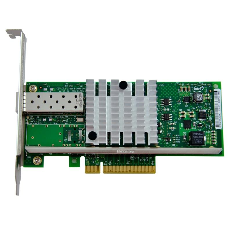 10Gb Server Adapter Single Port SFP+ NIC Lan Card Chipset for 82599ES X520 server adapter for 395867 001 nc150t 4 port