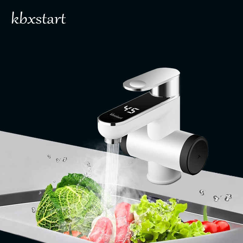 Kbxstart 家庭の台所タッチ蛇口温水暖房タップ電気シャワー 220 220v 誘導ヒーター瞬時水ヒーター