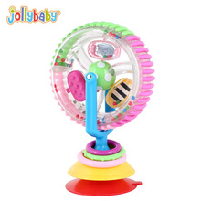 Jollybaby Baby Ferris Wheel Rattle Tricolor Multi-touch Rotating 0-12 Months Chair Creative Educational Toys For Children