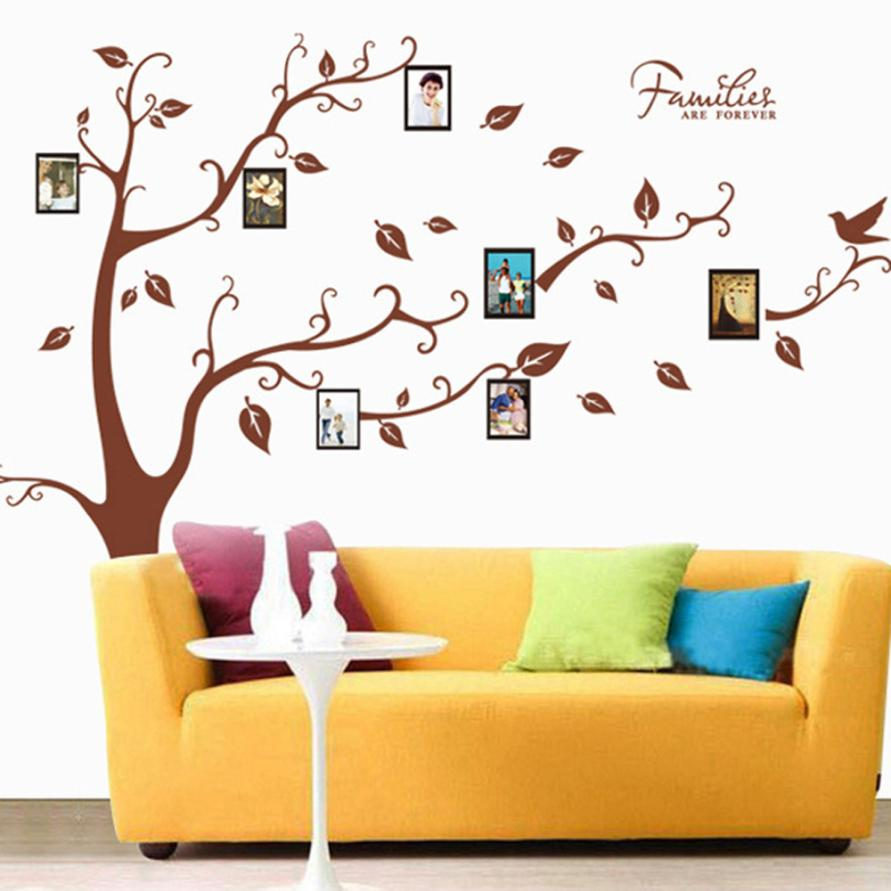 Permalink to Home Decor 3D DIY Photo Tree PVC Wall Decals Adhesive Wall Stickers Mural Art Home Decor wall sticker Home Deco mirror JU31