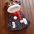 2016 Del Invierno Del Bebé Ropa de Moda Casual Chaquetas Abrigos Otoño Infantil de Disfraces Niño Otoño, además de Terciopelo Outwear Con Capucha