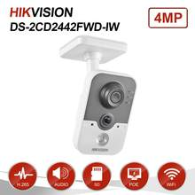 Hikvision 4MP IR Cube HD Audio Microphone Wifi IP Camera Onvif Home Security Surveillance Night Vision Camera DS-2CD2442FWD-IW(China)