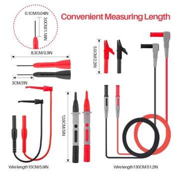 Test Leads Kit, Electronic Professional Diagnostic Set Including PVC Lead Extension/Copper Test Probes/Mini Alligator Clip