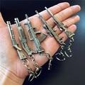 AK47 AMW Gun KeyChains Tritium Metal CS GO Keyring Key Holders For Best Friends Chaveiros Llaveros For Men Porta Porte Clef