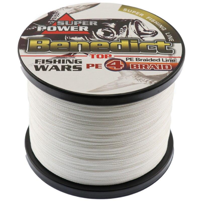 Marcas novedad super fuerte 100% M cables M trenzados 1000 pe fibra pesca línea spectra blanco 4 hilos 0,55mm-0,1mm líneas de pesca