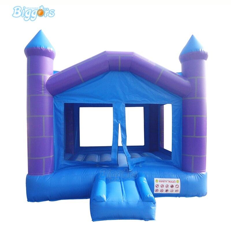Château gonflable pourpre gonflable de cour rebondissant la maison pour des enfants jouent
