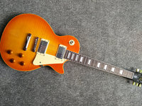 Hot Selling Classical 1959 LP Electric Guitars Tiger Flame Finish R9 LP Guitar For Sale