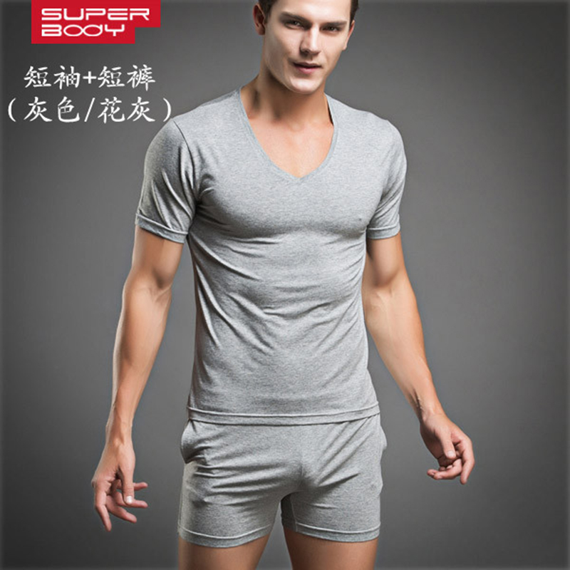2 Pieces underwear suit Sexy Men's fitness body building ...