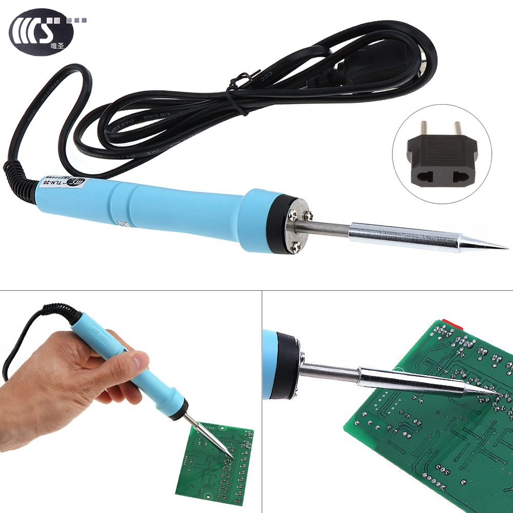 WS-706 20W 220V EU Electric Soldering Iron Welding Station Tool with LED Light Ceramic Core Constant Temperature Electric Iron