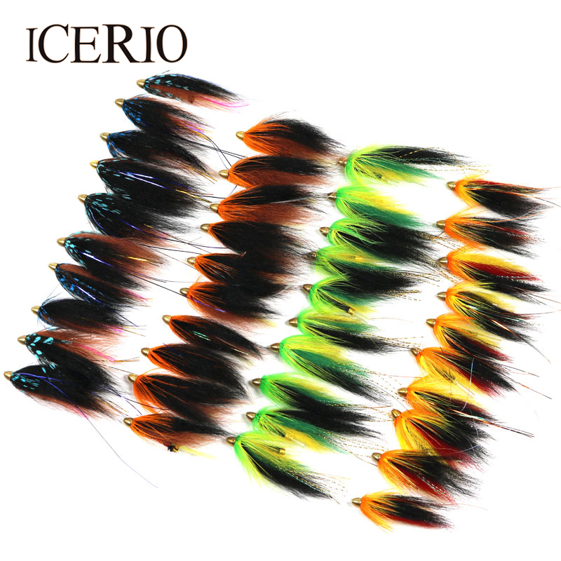 ICERIO Wholesale 3 combinations 4  Assorted Color Handmade Tube Fly Flies Trout Fly Fishing Lure|fishing lure|fly fishing lure|trout flies - title=