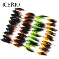 Icerio卸売3組み合わせ4盛り合わせ色手作りチューブフライハエトラウトフライ釣りルアー