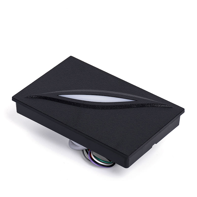 LED Light Waterproof Black color 125Khz RFID Reader WG26/34 Reader Card Key fob Reader For Access Control System