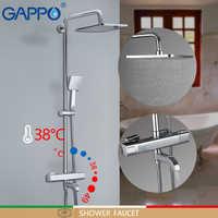 GAPPO robinets de douche robinet de baignoire thermostatique salle de bain robinet de douche mélangeur de bain mural pluie ensemble de douche mitigeur
