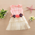 2016 New Girls Dress Summer Clothing Children Casual Lace Princess Dress Kids Party O-Neck Dresses toddler girls summer clothing