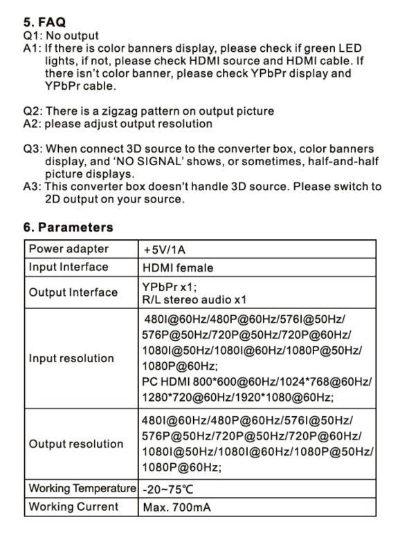 ypbpr to hdmi Component converter