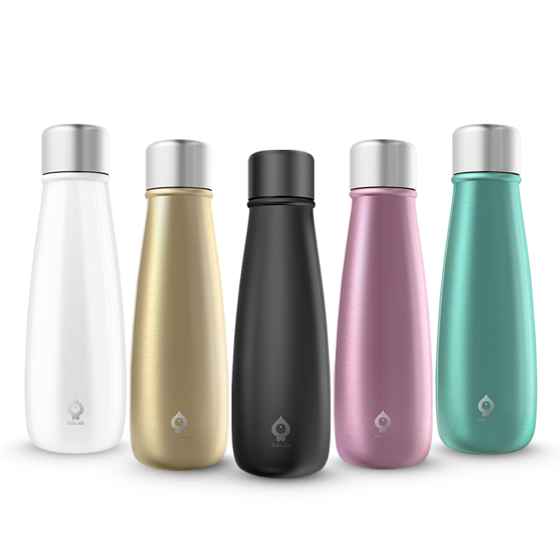 SGUAI G5 Smart Thermos Cup LED Touch Screen Simple Stainless Steel Portable Car Load Reminder Drinking Water Thermo Flask Gifts