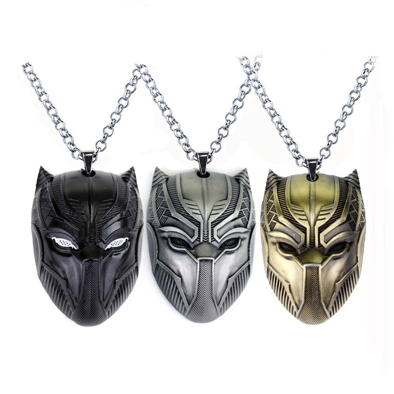 Film surrounding accessories CAPTAIN AMERICA CAPTAIN AMERICA 3 panther mask pendant necklace
