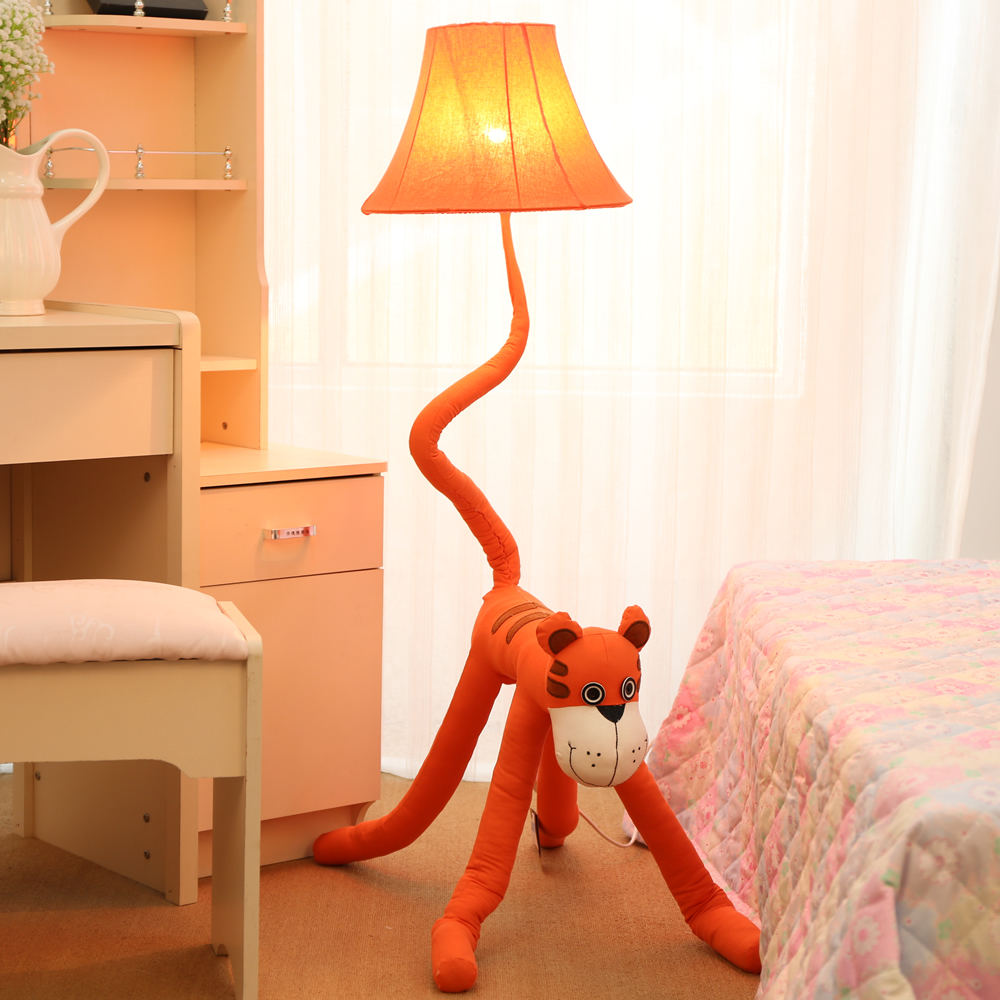 HGhomeart Creative cartoon tiger vertical garden floor lamp bedroom bedside lamps living room lamps for kids french garden vertical floor lamp modern ceramic crystal lamp hotel room bedroom floor lamps dining lamp simple bedside lights