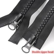 1pcs/LOT sewing accessories NO.8 Zinc alloy metal slider resin zipper, decorative cushions skirt shirt, home DIY materials