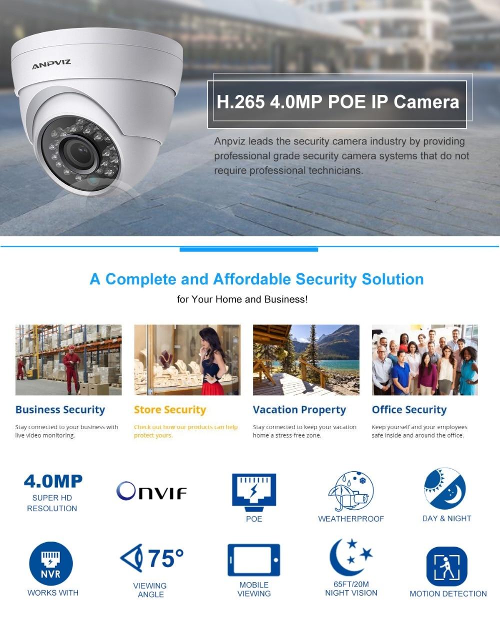 US $157 8  Anpviz 2Pcs H 265 Security IP Camera 2K POE 4MP Outdoor  Waterproof IP66 CCTV Camera Video Surveillance Home security ONVIF-in  Surveillance
