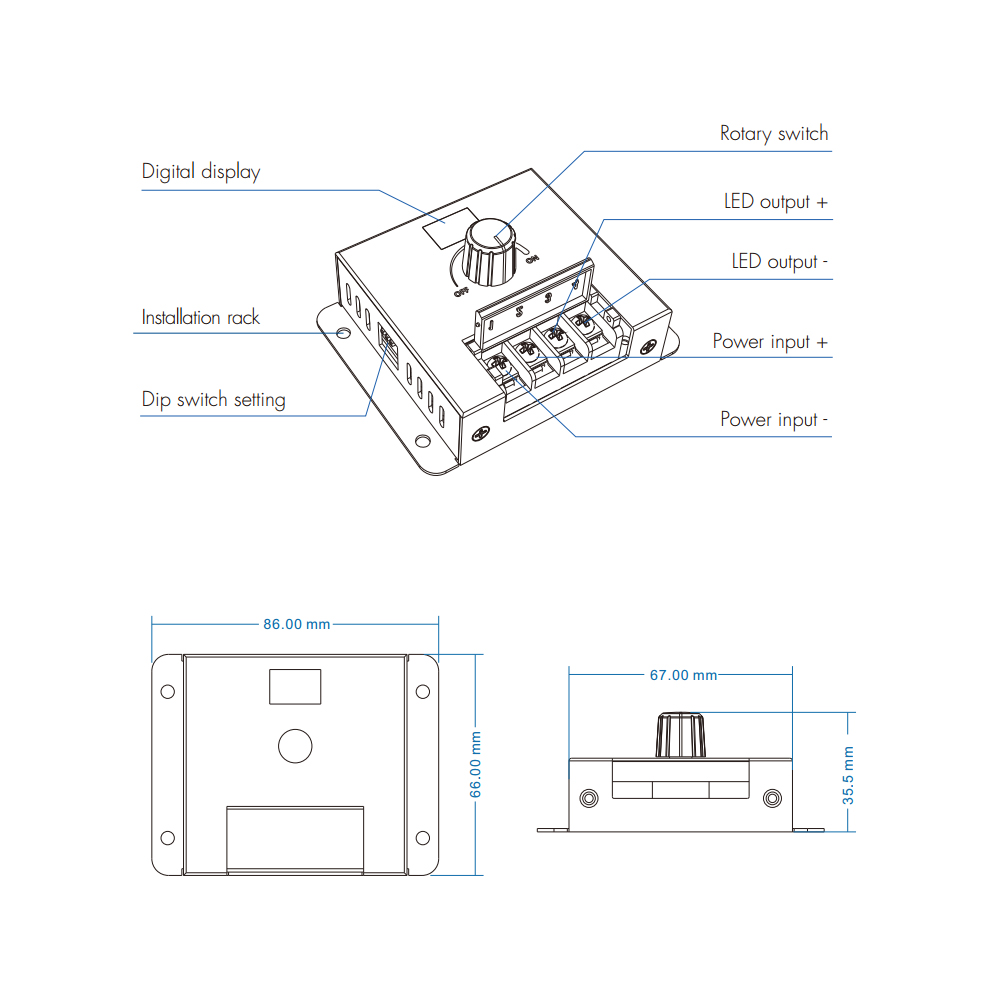 rotary led dimmer switch