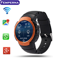 Lem3 caliente android 5.1 bluetooth smart watch mtk6580 quad core smartwatch WIFI de la ayuda 3G GPS Realmente Smartwatch PK d5 x3 x5 k18