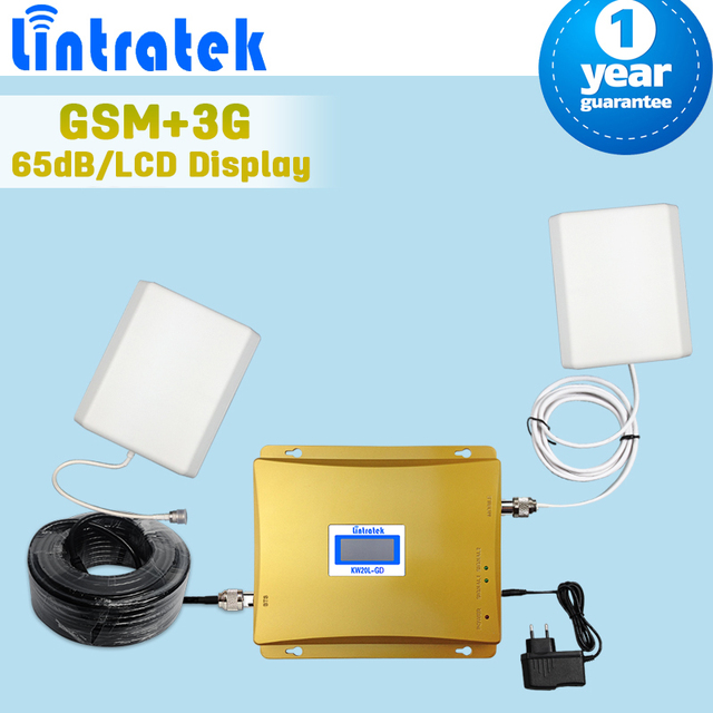 GSM 3G Dual Band Repaeter GSM 900mhz WCDMA 2100mhz Mobile Signal Booster LCD Display GSM 900 3G 2100 Cellular Signal Amplifier