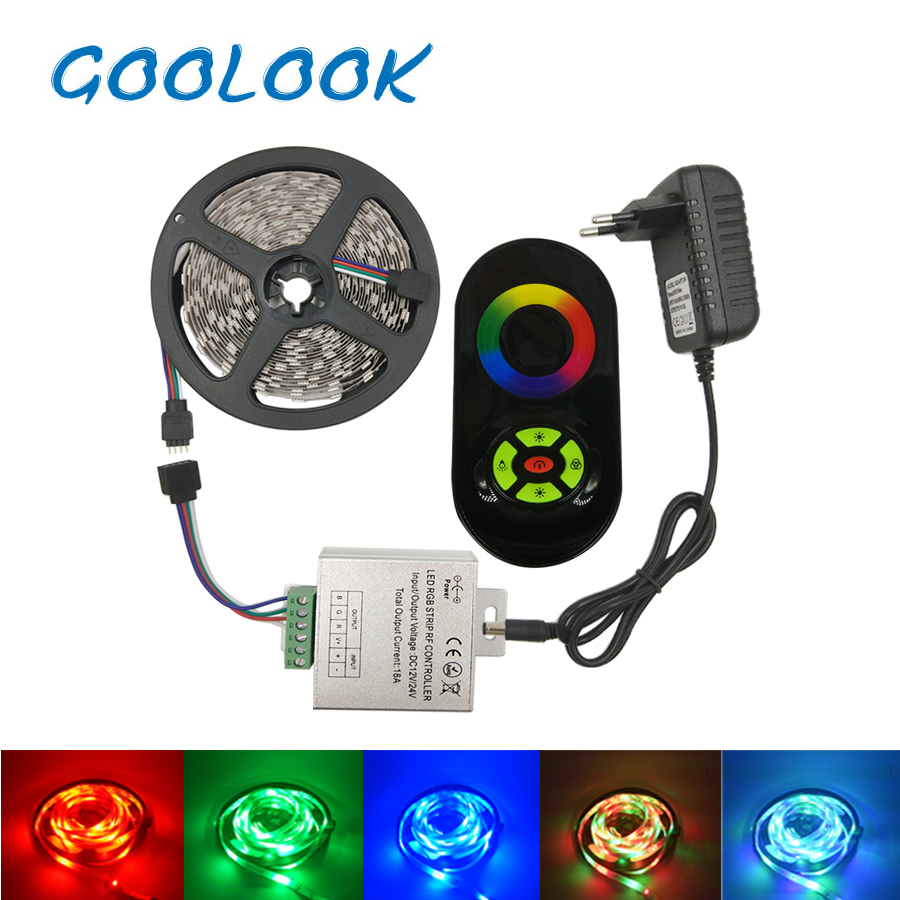 цены  Goolook Led Strip Light SMD 2835 3528 RGB Led Tape Waterproof Diode LED Ribbon RGB Strip Flexible For Home Decoration full set