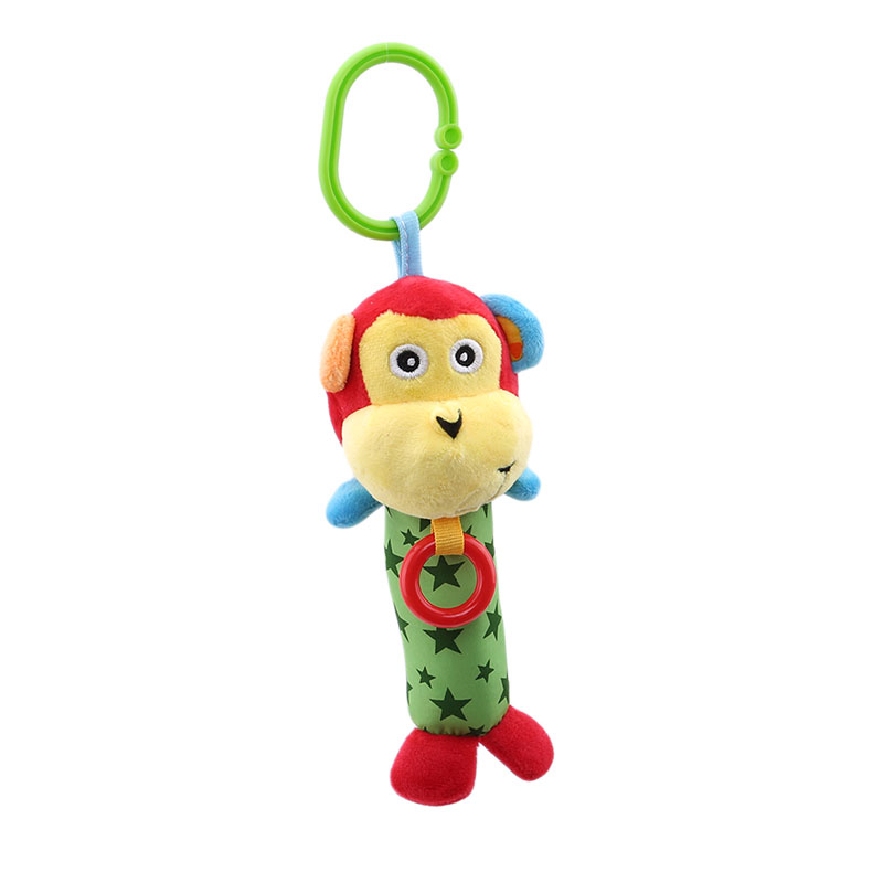 Cute Animals Monkey Baby Appease Doll Toy Soft Gentle Rattle Plush Toy Cheerful Rocking Stick Bibi Sound Teether Rattle Toy Fast Deliver 0m Toys & Hobbies