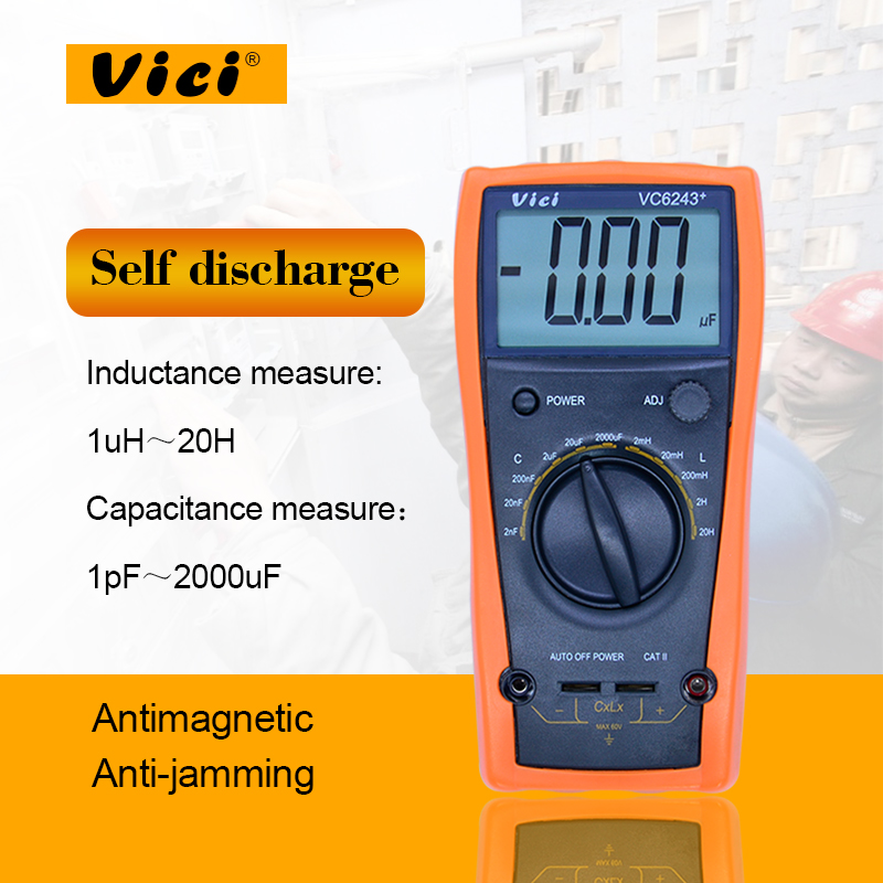 Digital multimeter ViCi VC6243+ high presion LC Meter Inductance Capacitance with Automatic power failure without burning table high precision digital capacitance inductance meter auto ranging component tester 500kh lc rc oscillation inductance multimeter