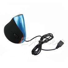 P проводной Вертикальная Мышь Улучшенный Эргономичный Дизайн Мыши компьютерные оптическая USB Мышь для игровой компьютер PC ноутбук предотвращения Мышь ручной