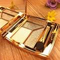 Portátil Diamante Sombra de Ojos Pallete Delicado Desnudo Minerales Naturales Radiante Luminoso Profissional Herramientas de Maquillaje de Ojos de Larga duración