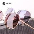AOUBOU Unisex Ronda gafas de Sol de Marca Original Marco de la Aleación Con Diamante Estilo Simple Diseño Gradiente Gafas De Sol Feminino 6106