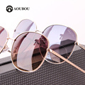 AOUBOU Unisex Round Sunglasses Original Brand Alloy Frame With Diamond Simple Style Design Gradient  Oculos De Sol Feminino 6106